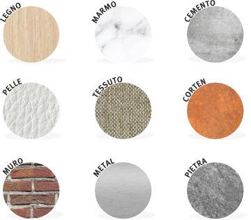 esempi di texture da utilizzare come rivestimento