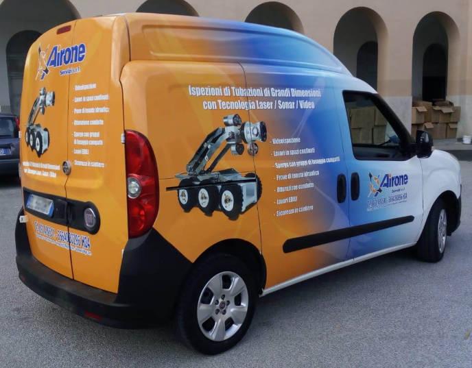 Car wrapping personalizzato Airone Servizi