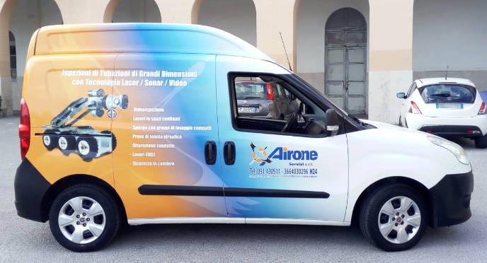 Foto relativa al car wrapping del veicolo Airone Servizi