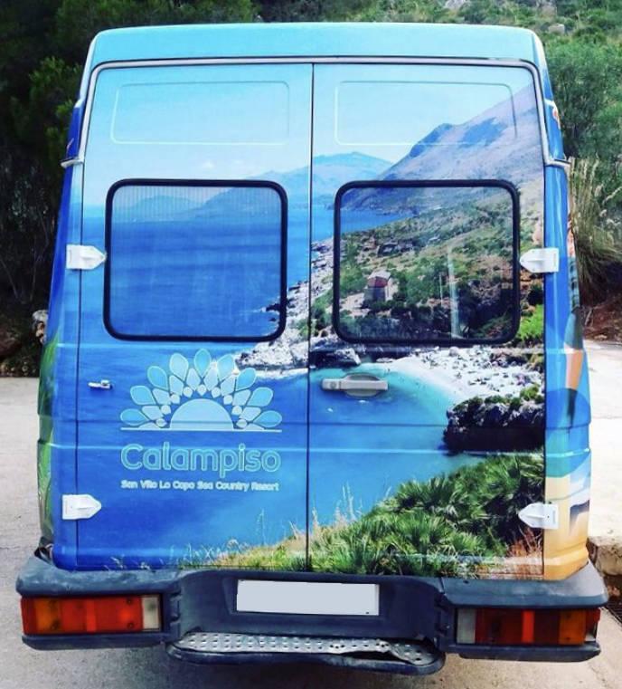 Brandizzazione pullman Calampiso con car wrapping