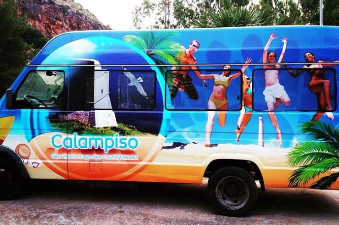 Car wrapping per personalizzazione pullman Calampiso