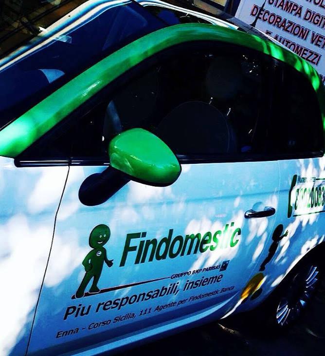 Brandizzazione veicolo Findomestic tramite car wrapping