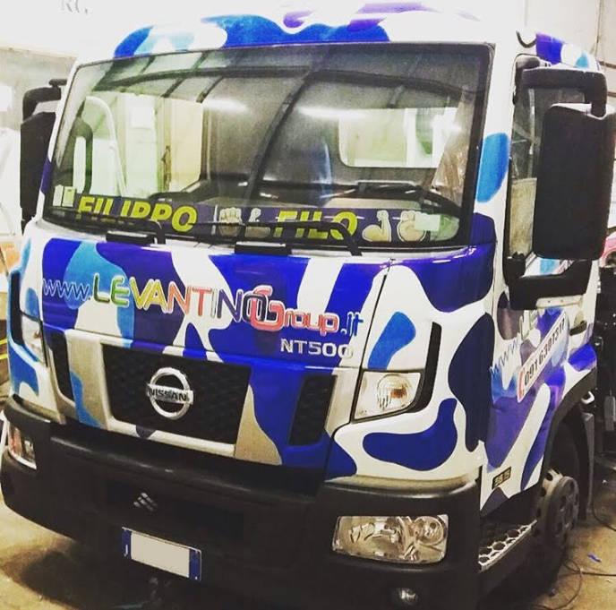 Brandizzazione Autocarro con car wrapping a Palermo