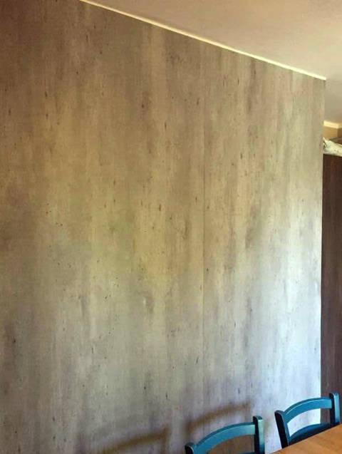 pellicola murale effetto cemento
