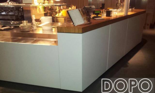 restyling bancone bar dopo altra angolazione