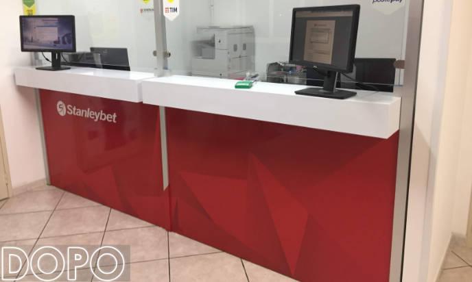 rivestimento bancone agenzia stanleybet