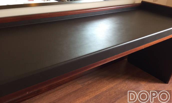 rivestimento scrivania effetto pelle nera